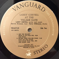 LARRY CORYELL:AT THE VILLAGE GATE(LABEL SIDE-B)