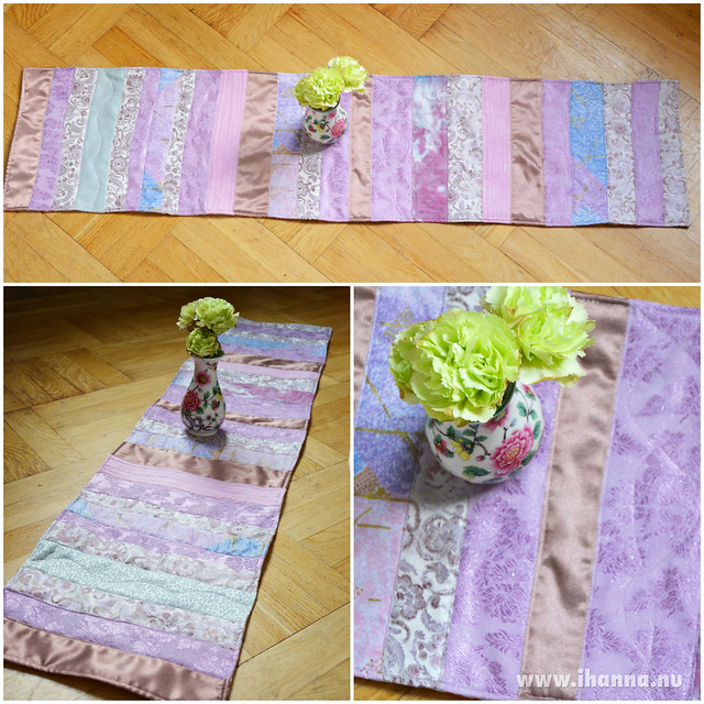 iHanna's Lilac Table Runner for a friend, photo and sewing by iHanna #quilting