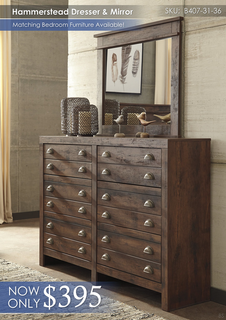 Hammerstead Dresser and Mirror B407-31-36