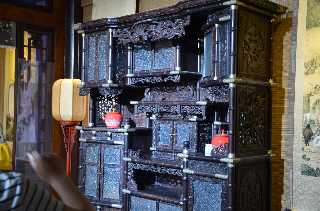 An Elegant Rose Wood Cabinet Inside The Temple | By Shankar S.