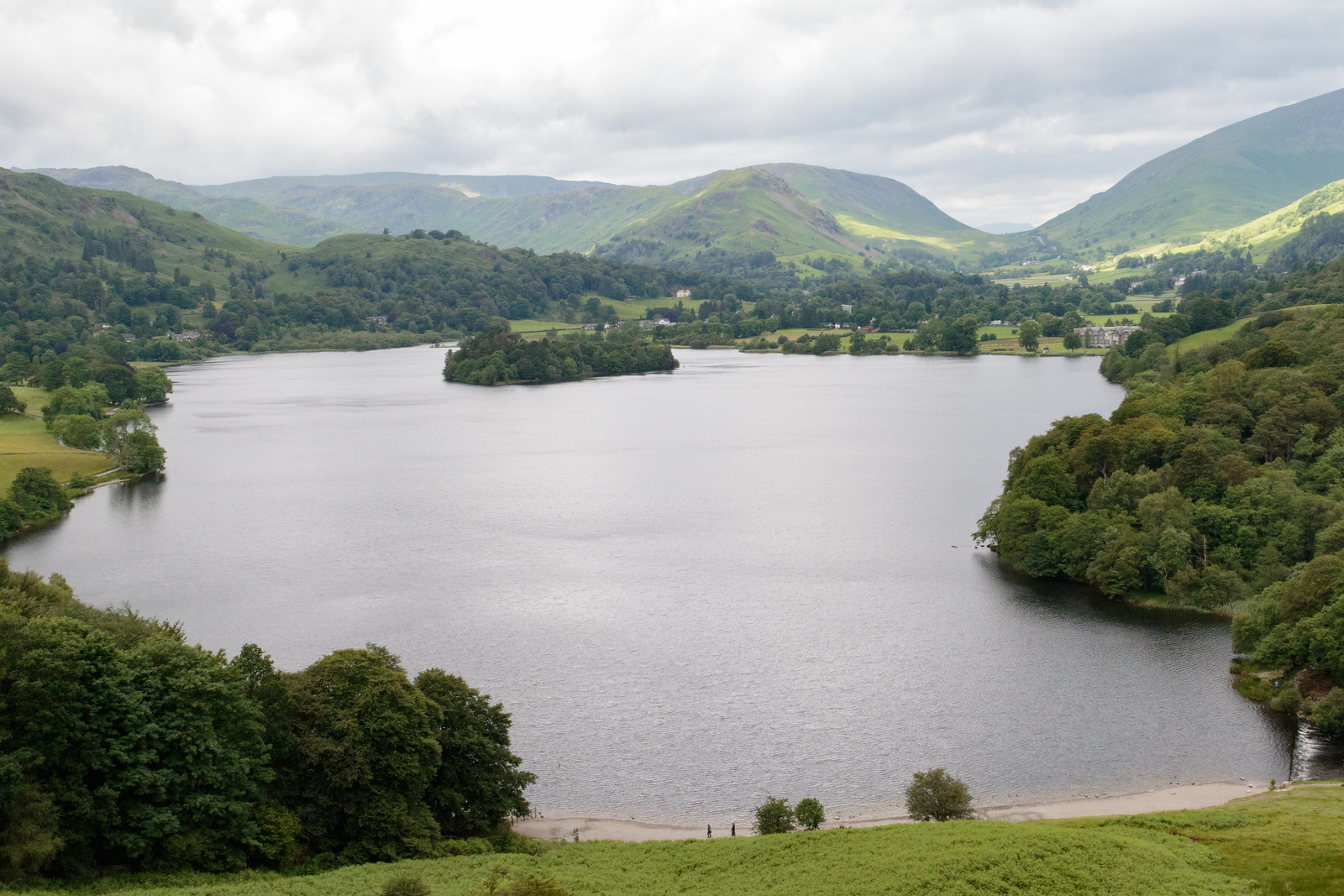 View over Grasmere Lake