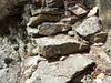 Couloir de la crête Nord du CornuDellu : les marches du couloir rocheux aménagé sous la pointe 1474