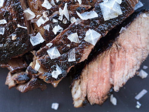 JACKIE ALPERS FOOD PHOTOGRAPHY: Maldon sea salt as an accent on pan seared steak | by Jackie Alpers