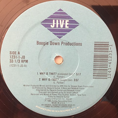 BOOGIE DOWN PRODUCTION:WHY IS THAT?(LABEL SIDE-A)