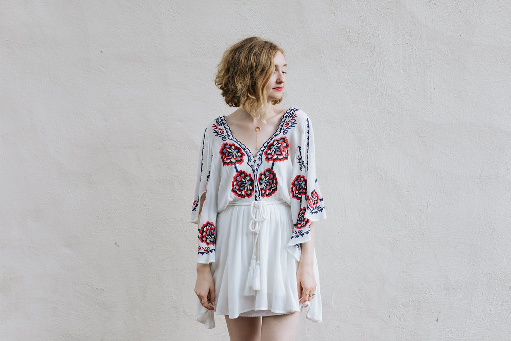 Free People Fourth of July Dress from Flock shot by Lena Mirisola on juliettelaura.blogspot.com