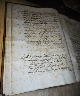 Copy about 1640 of the manuscript by leonardo da vinci for Calle da dipingere