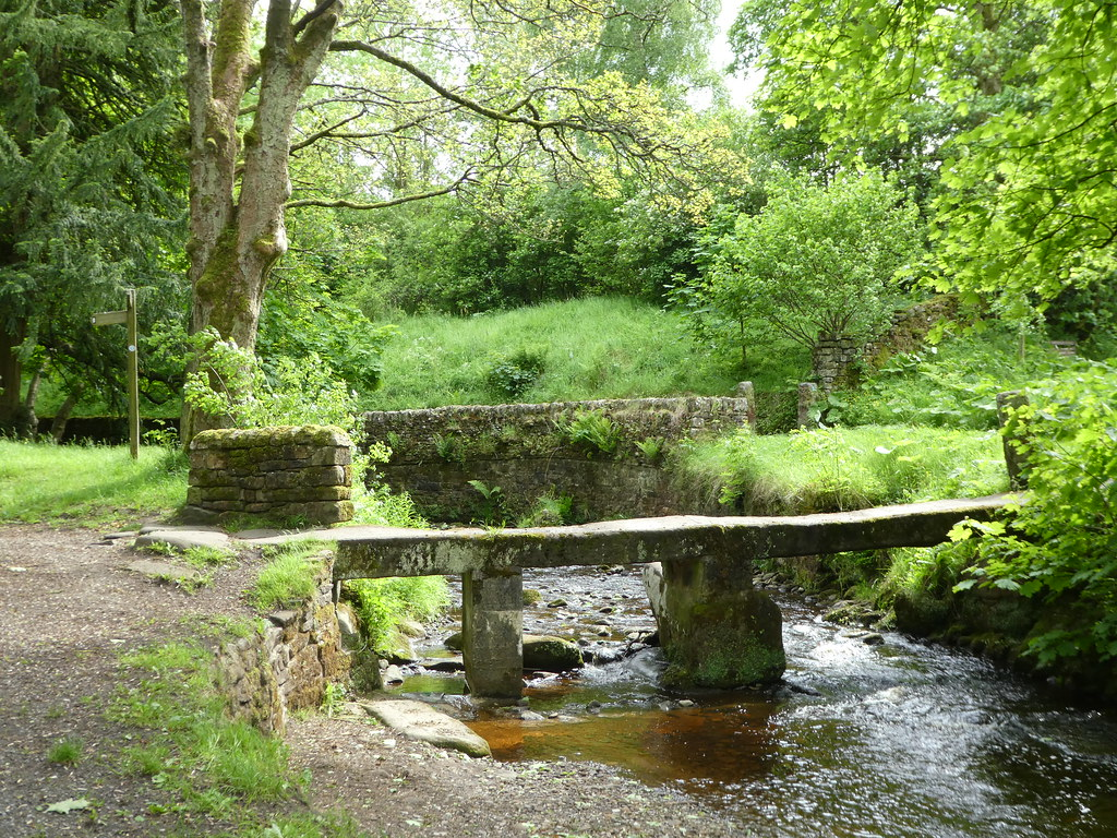 Ancient clapper bridge, Wycoller