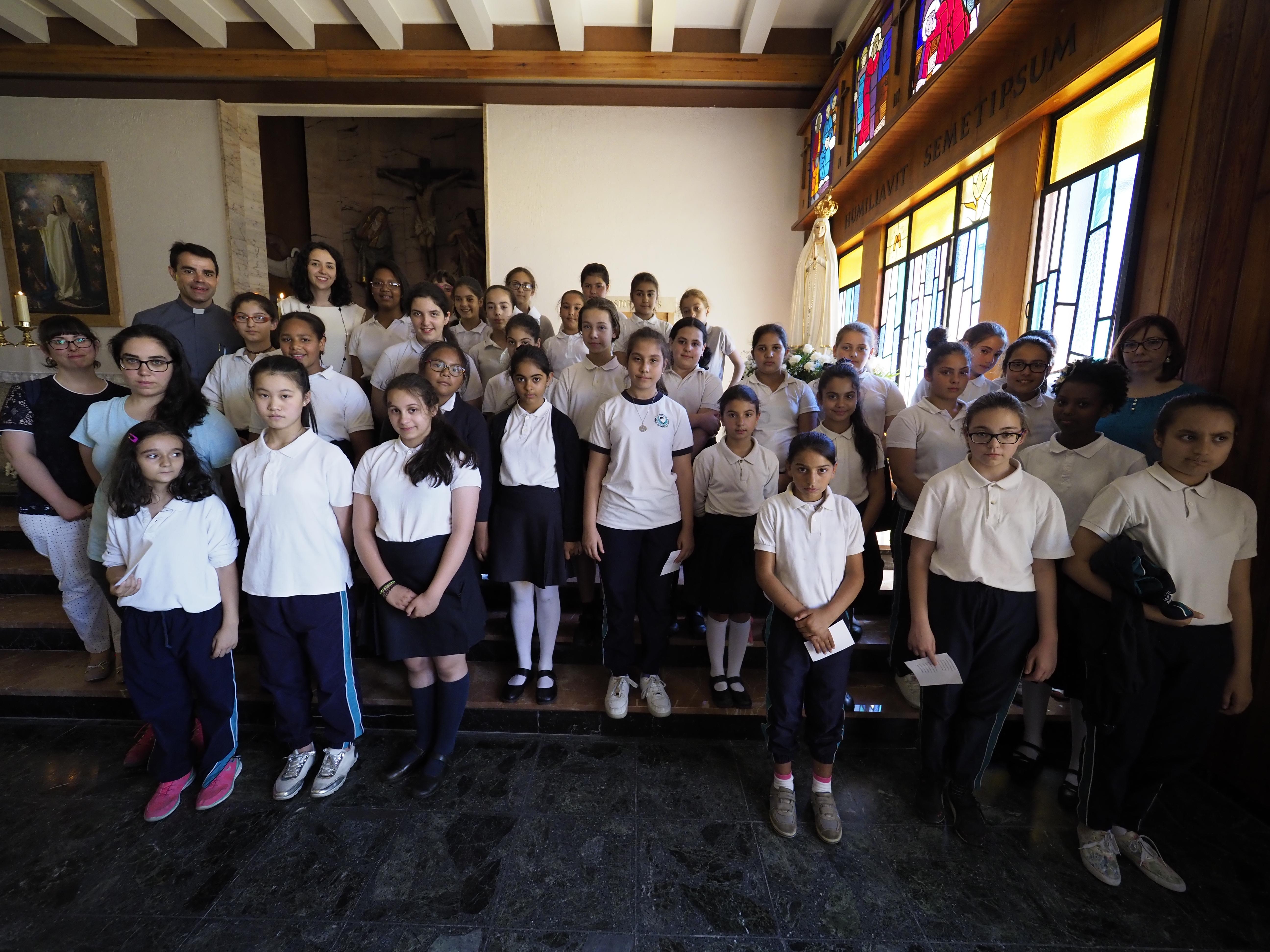 12-6-2017 - Visita de la Virgen Peregrina de Fátima al Seminario de Valladolid