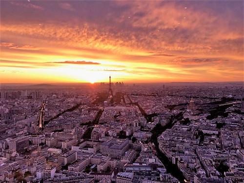 Paris france coucher de soleil sur la capitale sunset o flickr - Coucher de soleil sur paris ...