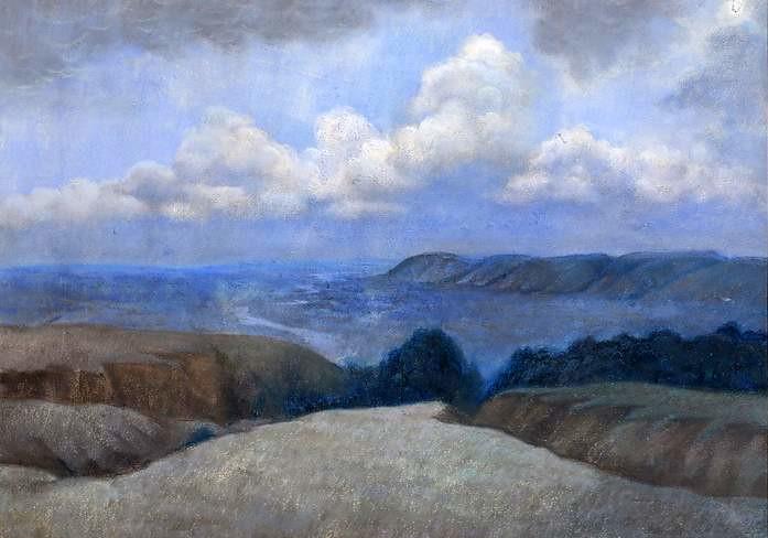 Тарханские пейзажи Салькова отличают тонкий лиризм, глубокое чувство сопричастности тайне природы, удивительное созвучие лермонтовской поэзии