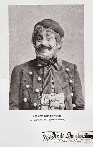 Alexander Girardi in Der Zigeunerbaron (1885)