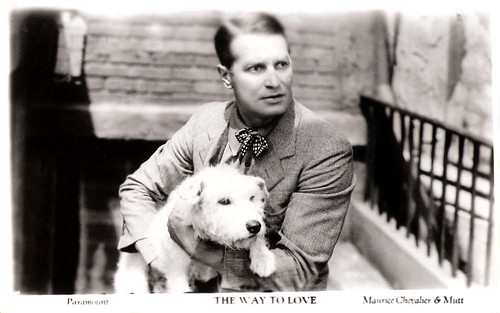 Maurice Chevalier and Mutt in The Way to Love (1933)