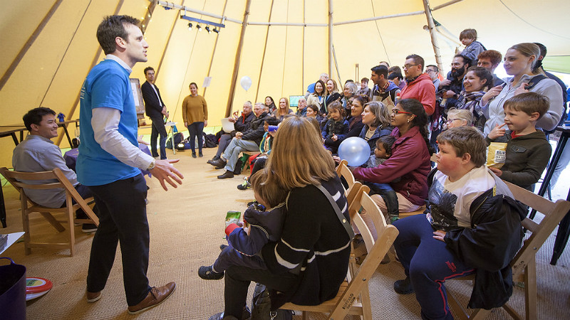 Performances in the Creative Zone Tipi tent during the University Festival in May 2017