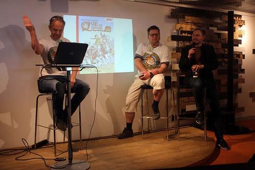 Per Demervall, Patric Nyström och Fabian Göranson.