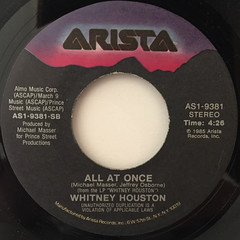 WHITNEY HOUSTON:SAVING ALL MY LOVE FOR YOU(LABEL SIDE-B)
