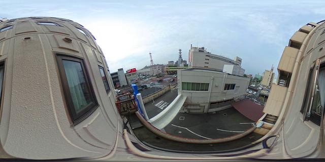 松江城市酒店窗外景色