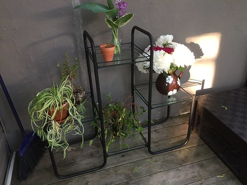 Painted plant stand