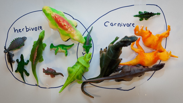 Dinosaur hunt activity from chapter 2 of Messy Church Does Science