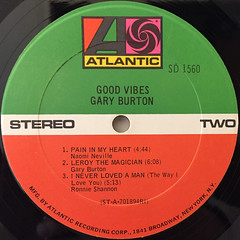 GARY BURTON:GOOD VIBES(LABEL SIDE-B)