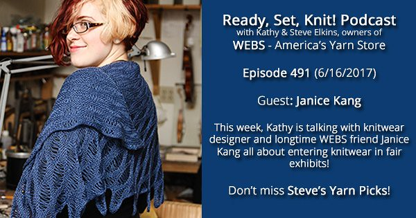 Ready, Set, Knit! Show 491: Kathy Talks With Janice Kang
