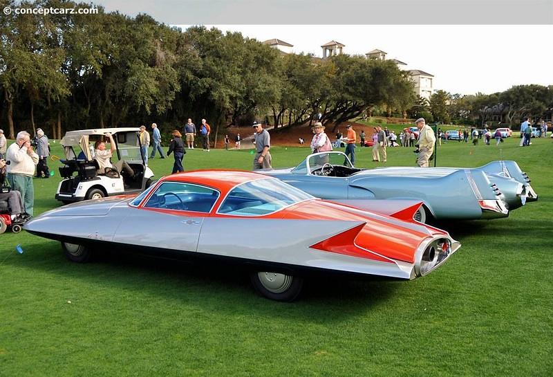1955 Ghia Gilda Streamline-X Concours Event Next to LeSabre.