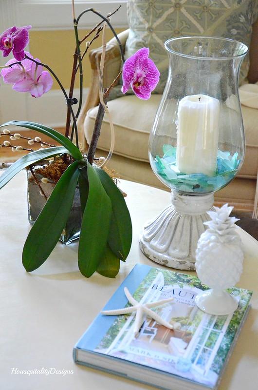 Great Room table Summer Vignette-Housepitality Designs