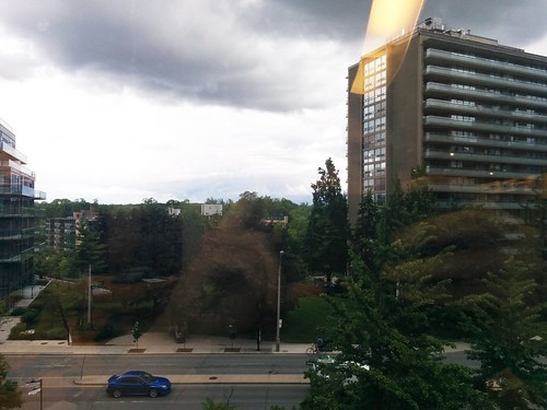 Looking north towards Rosedale from the Toronto Reference Library