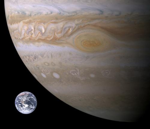 Dimensions Terre-Jupiter