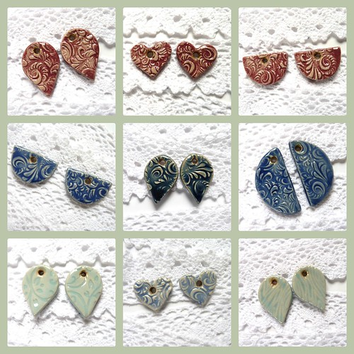ceramic earring components