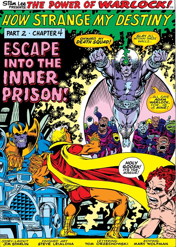 The Magus attacks Warlock Thanos Jim Starlin