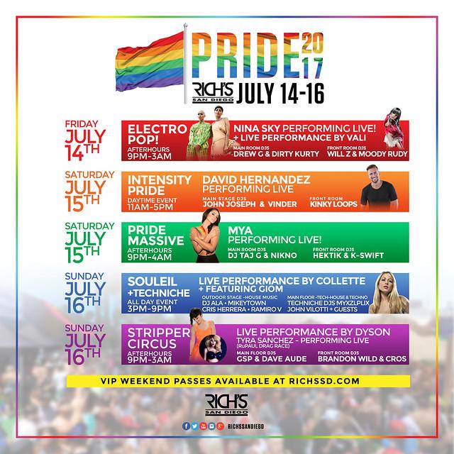 Pride 2017 Calendar