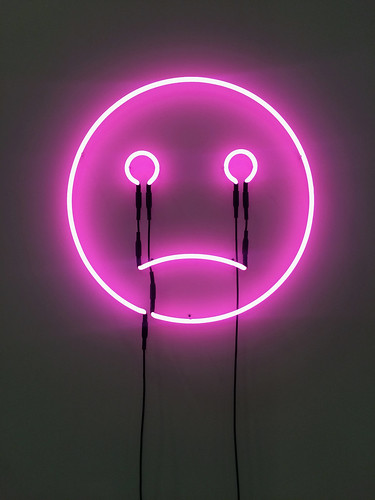 Sad face neon at the Independent art fair. | Jack Szwergold | Flickr