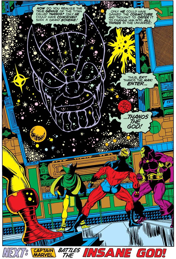 Thanos uses Cosmic Cube