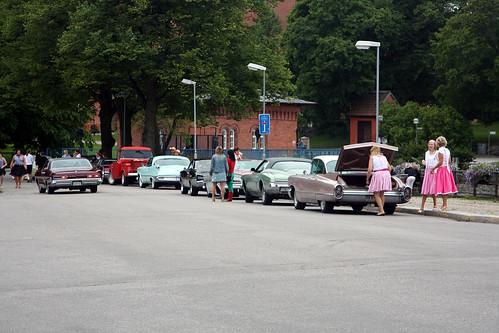 Ekipagen parkerar längs Svartån.