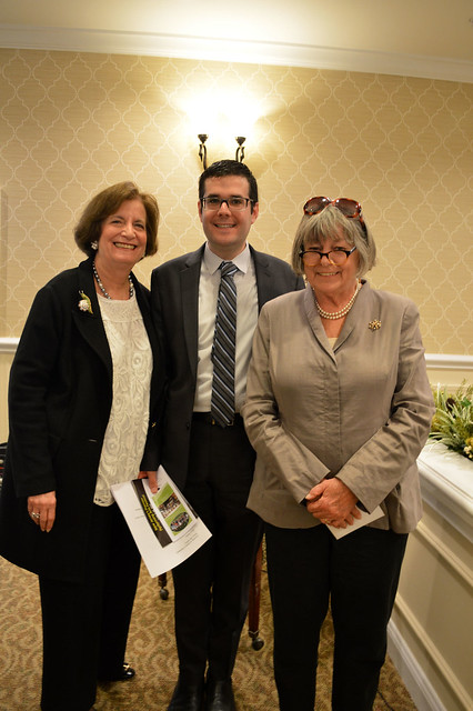 GenMtgMayLunch2017_0060; Florence Begun/Vice-President, Dr. Gregory Geehern, Kathy Hutchins/President.