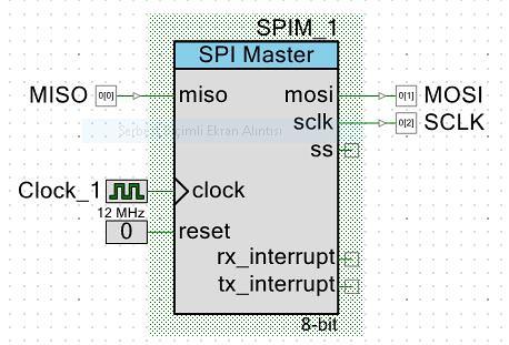 PSoC 5LP UDB Birimi ve SPI kullanımı