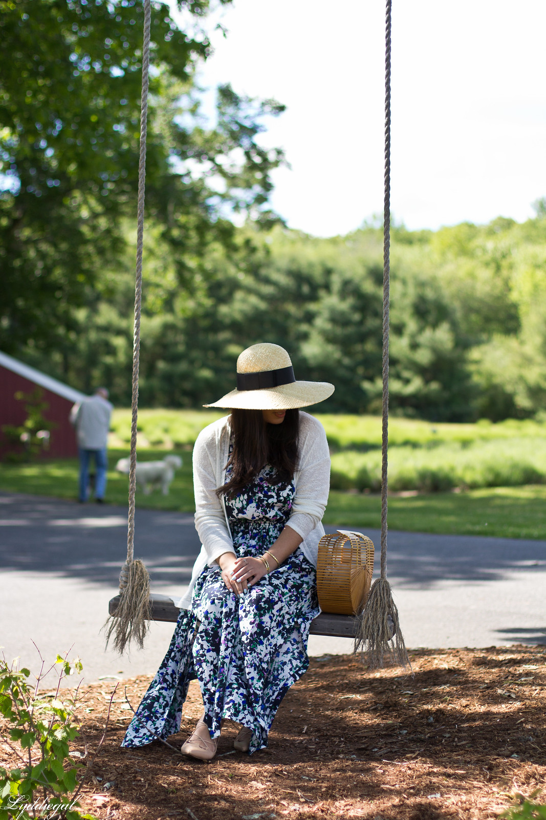 floral maxi dress, bamboo bag, straw hat, white cardigan-8.jpg