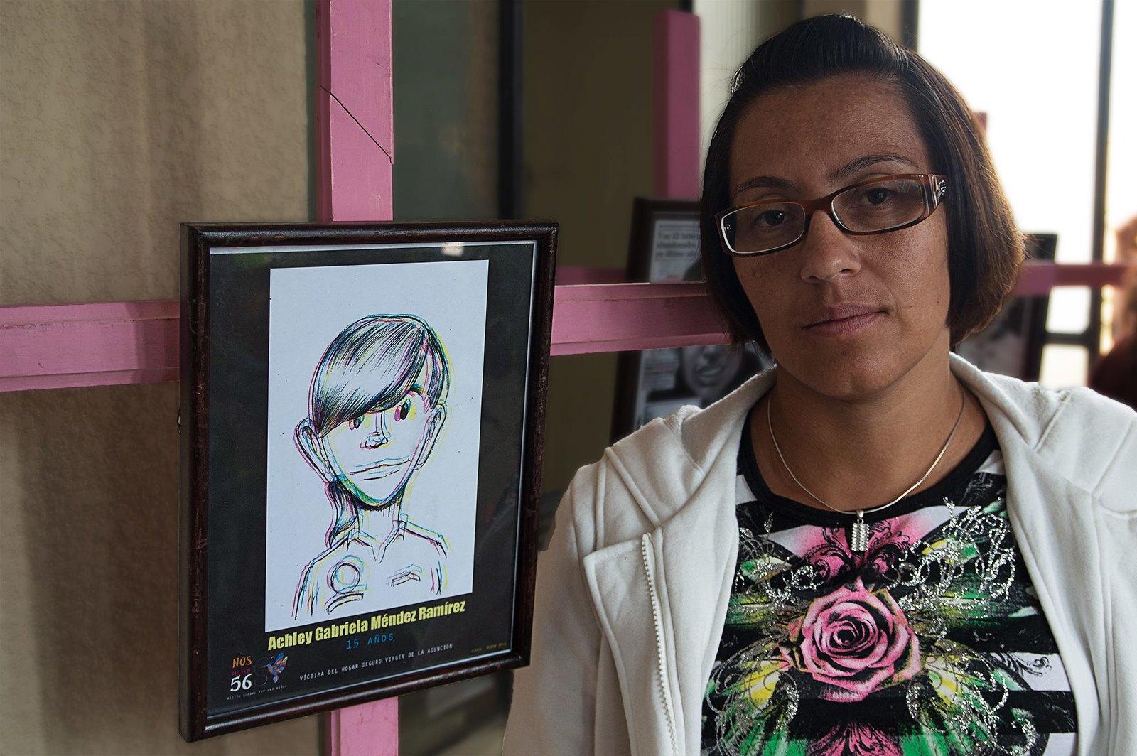 Dasia Ramírez es madre de Achley Gabriela Méndez Ramírez de 15 años