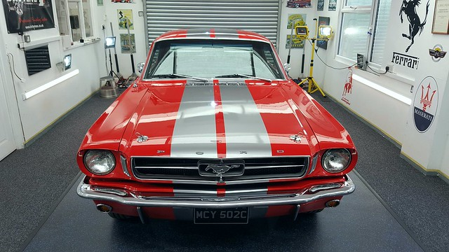 1964 Mustang Paint restoration Detail, this car was fully wet sanded