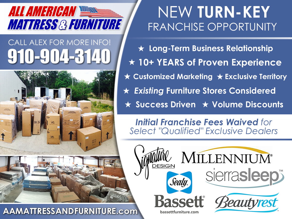 Business Opportunities All American Mattress Amp Furniture