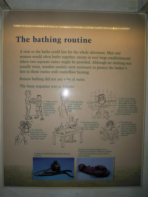 Bathing Routine. From Studying Abroad in London: A Trip to Bath