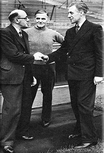Cliff Britton meets Theo Kelly and Harry Cooke in 1948