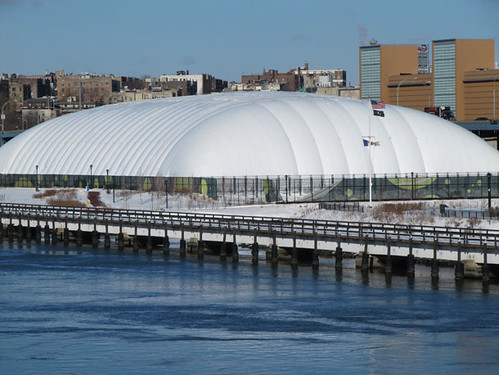 Tennis bubble, Stadium Tennis Center at Mill Pond Park, Bronx, New York City