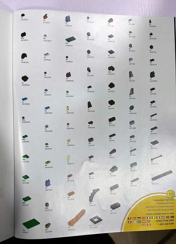 LEGO House Tree of Creativity Parts List