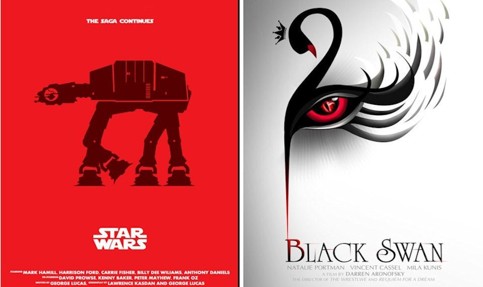 Examples of Movie Poster Redesign for Inspiration