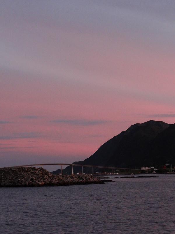Bridge on the sunset