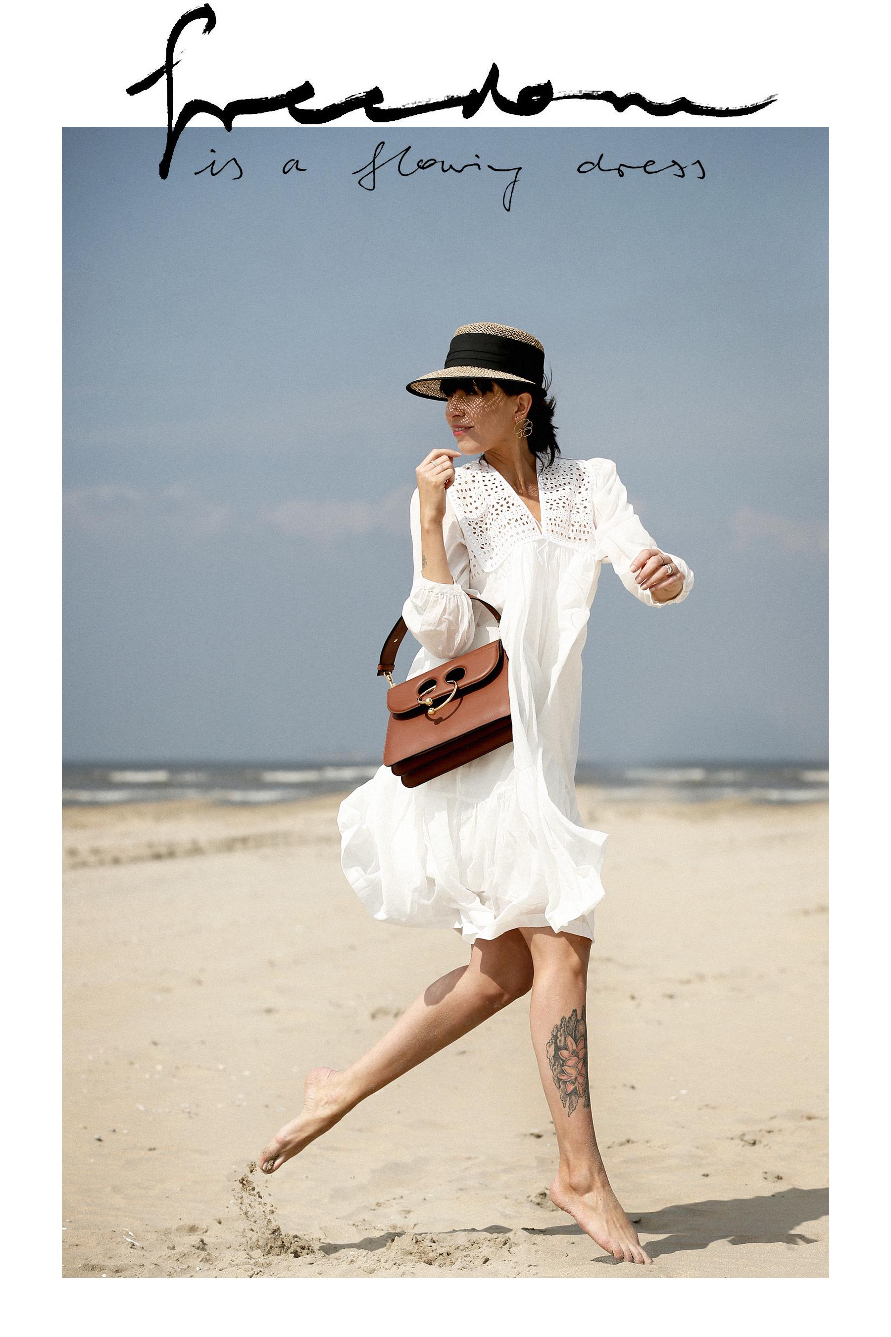 breuninger beach white dress closed j.w.anderson pierce bag straw hat summertime sunshine photography editorial vogue fashionblogger düsseldorf cats&dogs blog ricarda schernus modeblogger 8