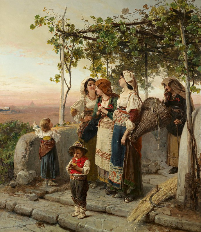 Gerolamo Induno - Da kommt der Zug (1871)