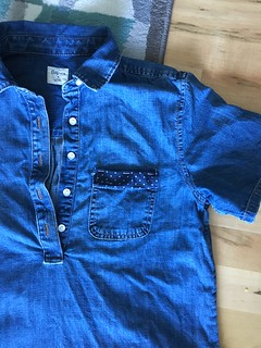 Lengethening a denim dress | EvinOK.com
