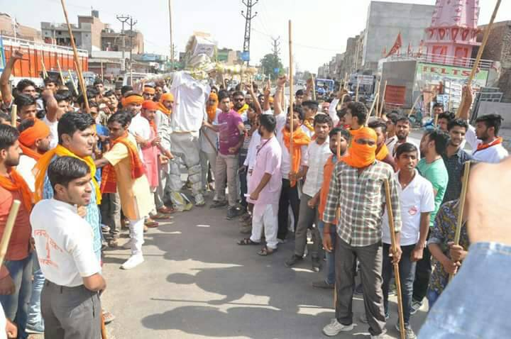 Bajrang Dal camp in Hanumangarh